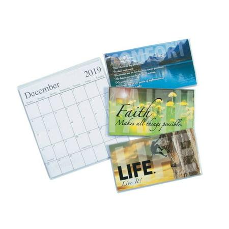 Pocket Calendar.2019 2020 Inspirational Pocket Calendars Walmart Com