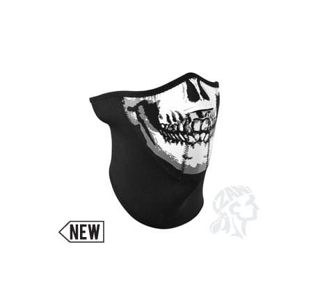 Zan Headgear 3-Panel Neoprene Half Mask Skull Face by ZANheadgear