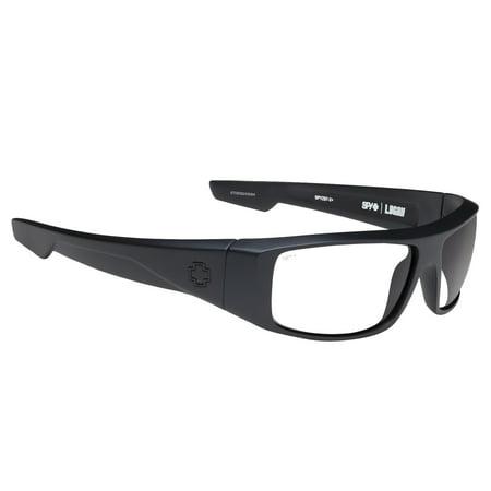 Spy Optic Men's Logan Matte Black Ansi RX, Happy Grey Gray Green (Spy Happy Lense)