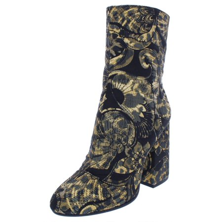 ASH Womens Flora Metallic Jacquard Dress Boots