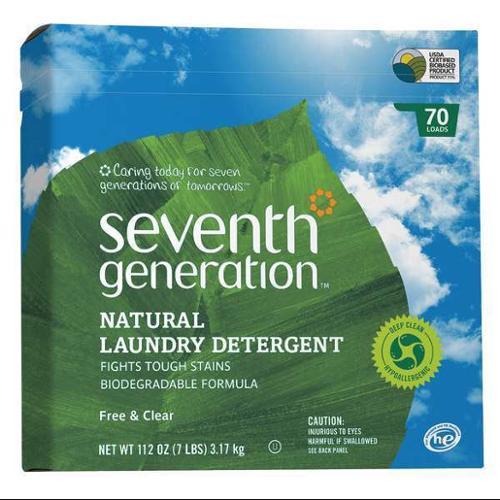 High Efficiency Powder Laundry Detergent, White ,Seventh Generation, SEV 22824