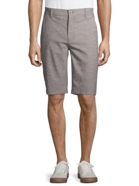 Hollywood Men's Stretch Chambray Flat Front Shorts