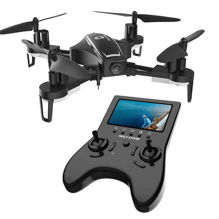 Holy Stone HS230D RC Racing FPV Drone with 120° FOV 720P HD Camera Live Video High Speed Wind Resistance Quadcopter with Altitude Hold Function 5.8G LCD Screen Real Time Transmitter Bonus