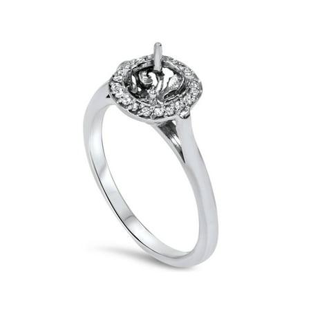 Diamond Engagement Ring Semi Mount 14K White Gold - image 1 of 4