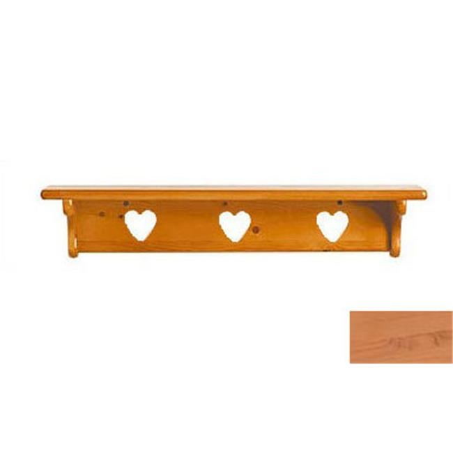 Little Colorado 1230NAHT Wall Shelf without Pegs Heart in Natural by Little Colorado