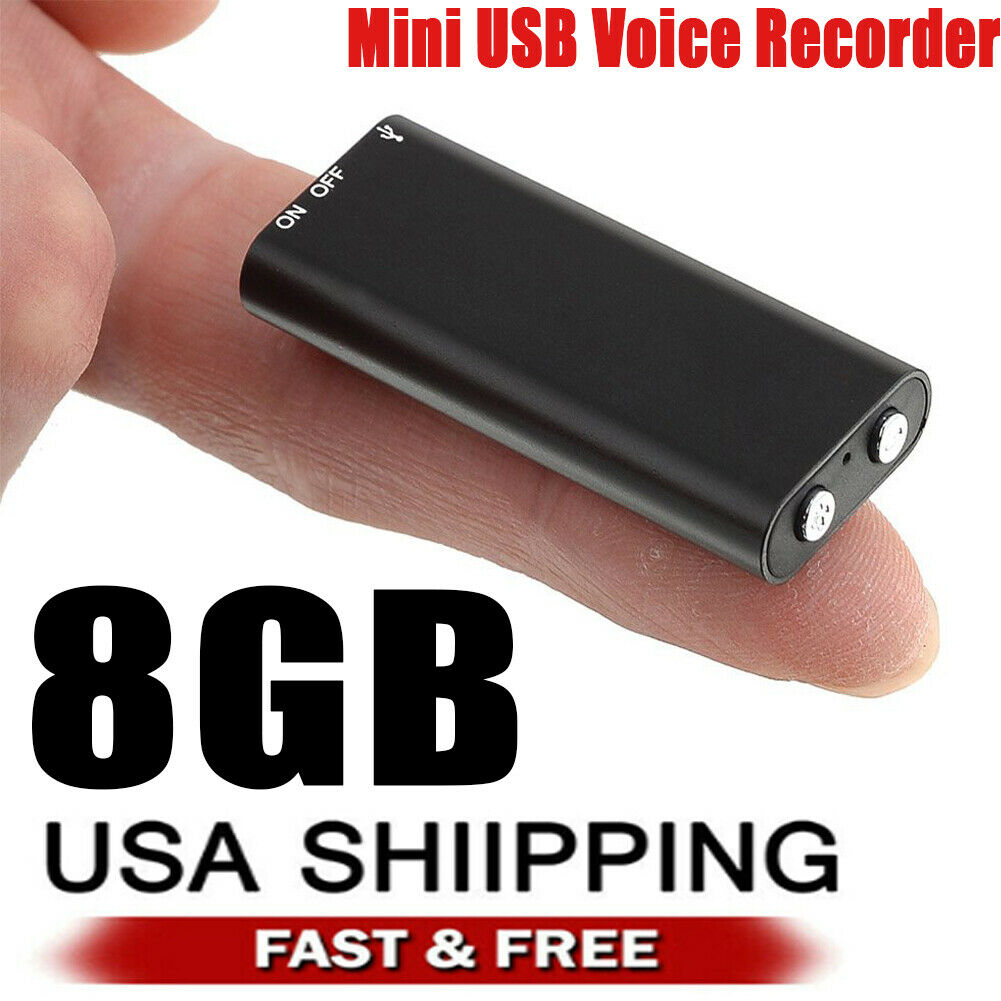 Mini Audio Recorder Voice Listening Device 96 Hours 8GB Bug New HIGH QUALITY.