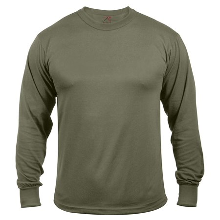 Rothco Moisture Wicking Long Sleeve T-Shirt - Olive Drab, Small