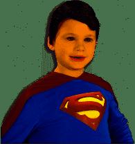 Child Vinyl Superman Wig