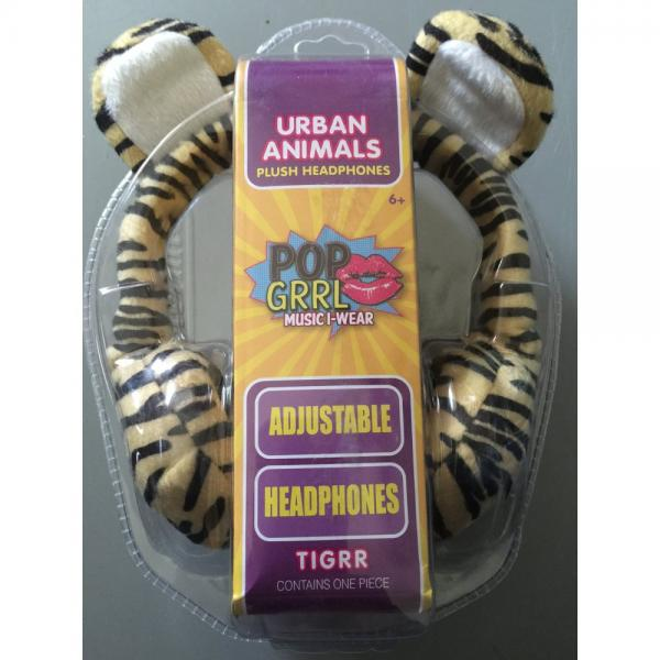 Urban Animals Plush Headphones Tigrr