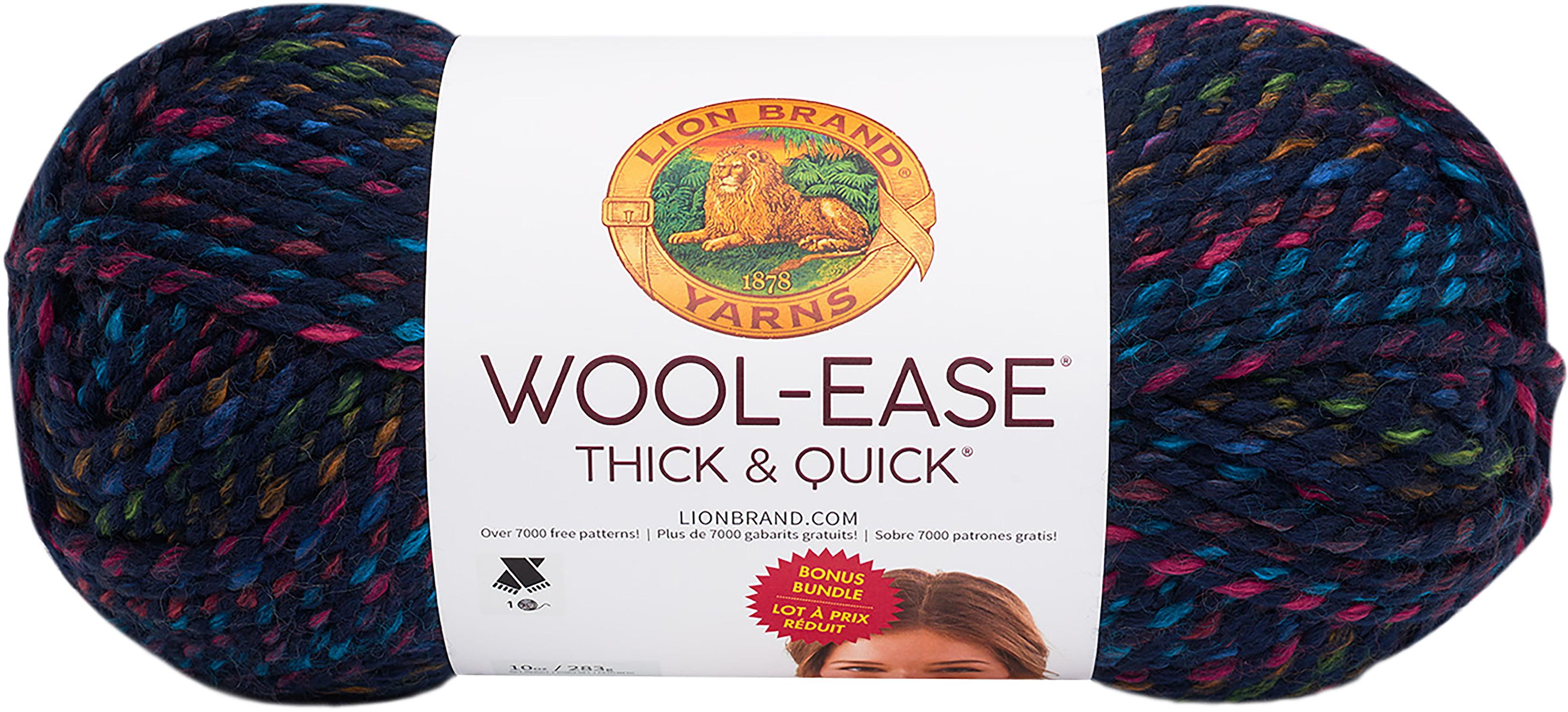 Lion Brand Wool-Ease Thick & Quick Prints Bonus Bundle Yarn-City Lights