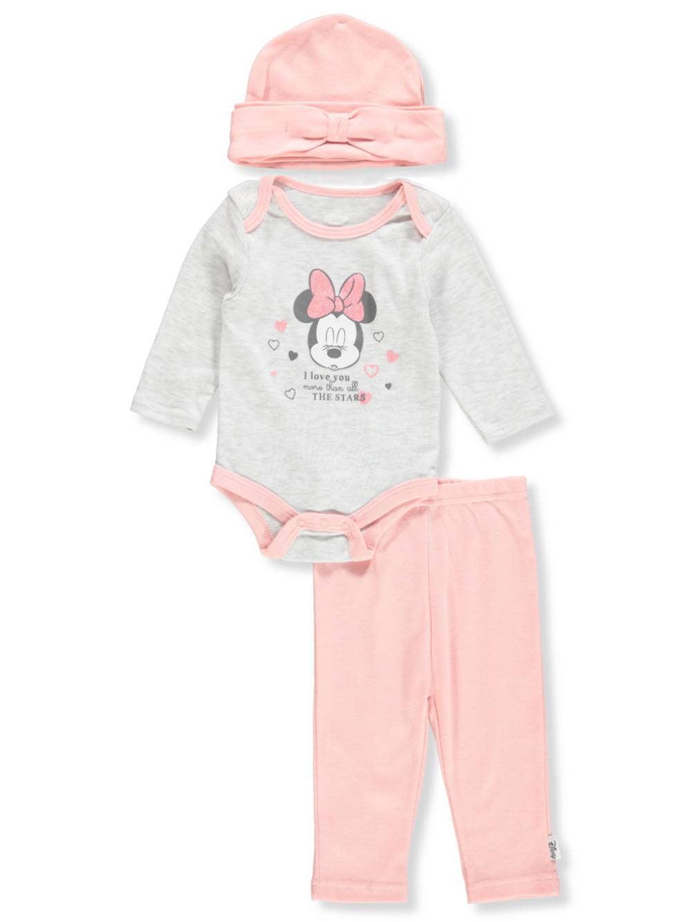 Disney Minnie Mouse Baby Girls' 3-Piece Layette Set
