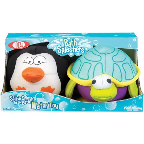 POOF-Slinky Penguin and Turtle Bath Splashers, 2-Pack