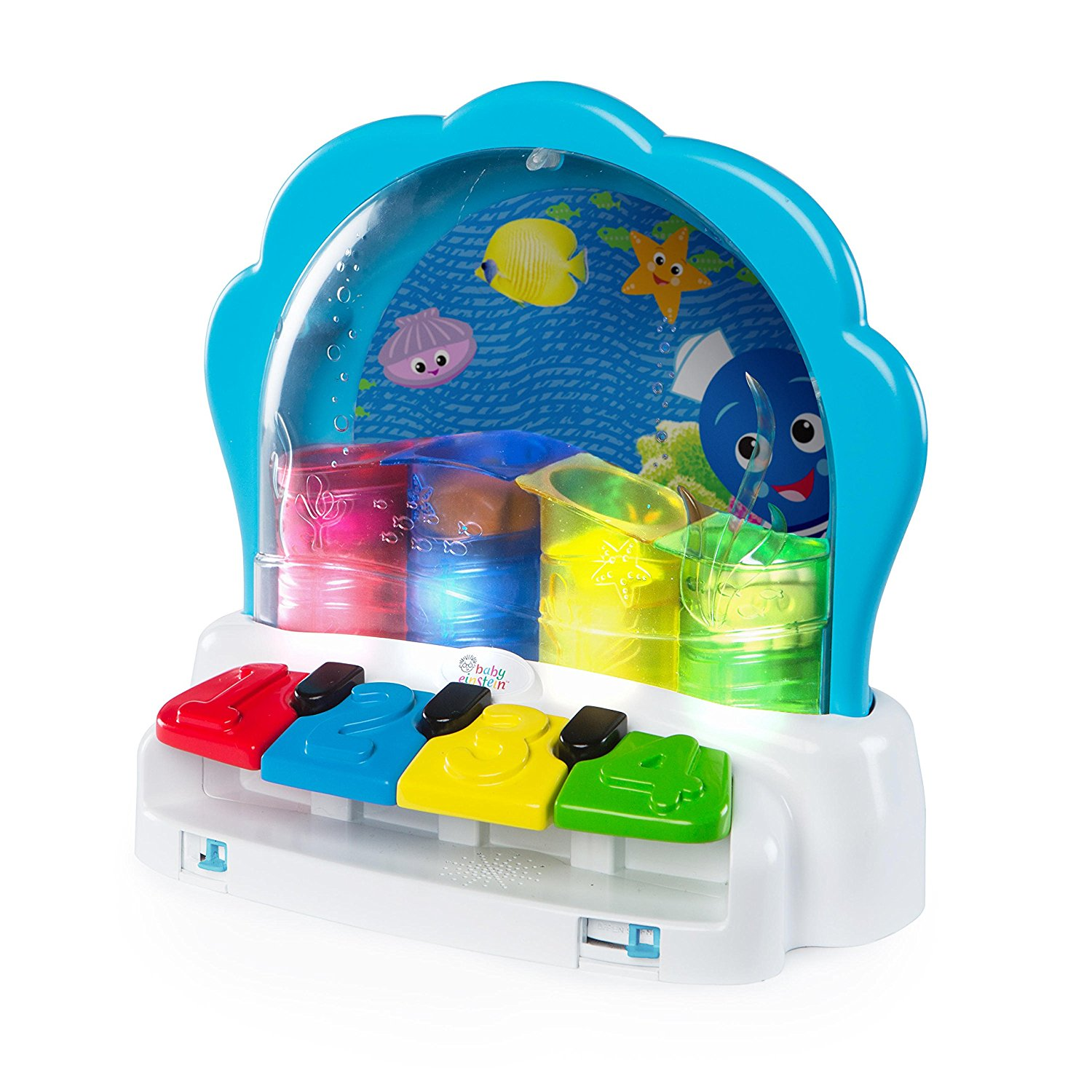 Pop & Glow Piano, Press the buttons to watch the colourful characters pop across the ocean... by