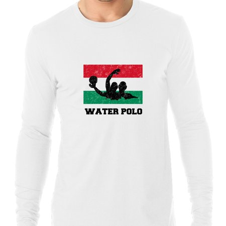 Hungary Olympic - Water Polo - Flag - Silhouette Men's Long Sleeve T-Shirt