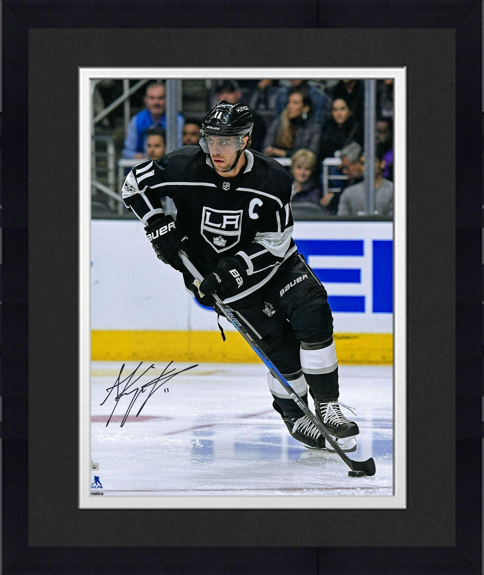 "Framed Anze Kopitar Los Angeles Kings Autographed 16"" x 20"" Black Jersey Skating Photograph Fanatics Authentic... by Fanatics Authentic"