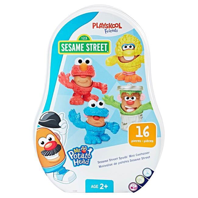 Hasbro HSBC1239 Mr. Potato Head Sesame Street Spuds Mini Container Toys Case of 3 by Hasbro