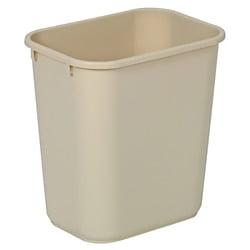 Highmark™ Standard Wastebasket, 3 1/4 Gallons, Beige