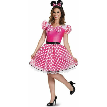 Pink Minnie Mouse Glam Women's Adult Halloween Costume
