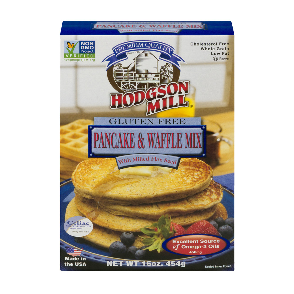 Hodgson Mill Pancake & Waffle Mix With Milled Flax Seed Gluten Free, 16.0 OZ