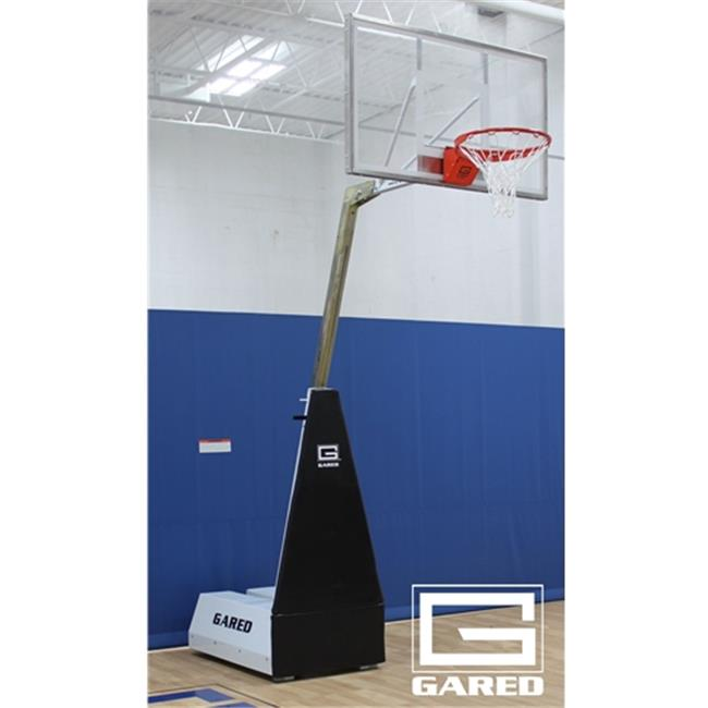 Gared Sports MICRO-Z54 4 ft. Roll-Around Basketball System with Boom, Rectangular Acrylic Board & 726 Breakaway Goal