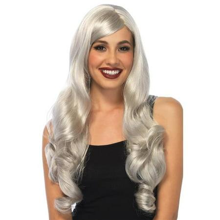 Morris Costumes UAA2722GY Long Wavy Grey Wig - Grey Costume Wig