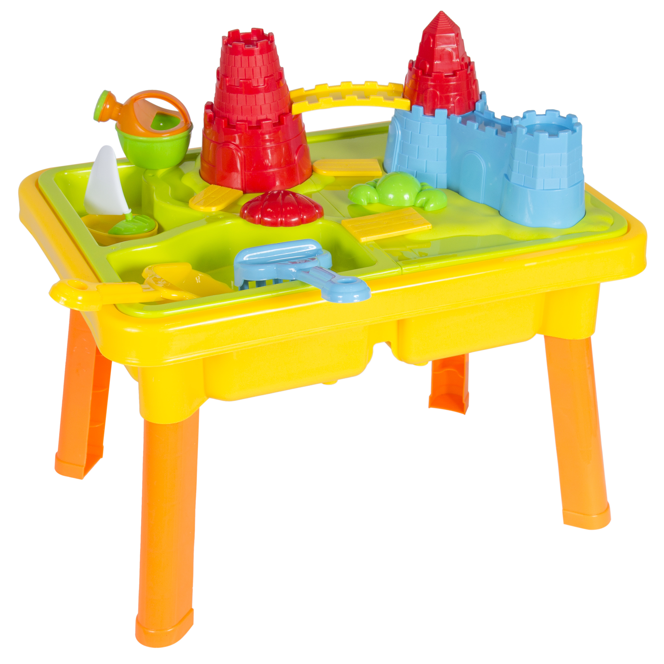 BCP Castle Sandbox 2 IN 1 Sand and Water Table W/ Beach Play Set Kids Child Play