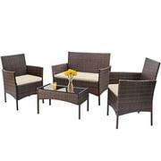 Best FDW Patio Furniture Sets - FDW 4 Pieces Outdoor Patio Furniture Sets Rattan Review