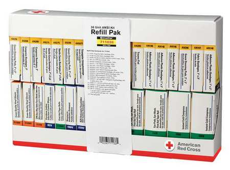 Click here to buy First Aid Kit Refill, American Red Cross, 711036-GR by American Red Cross.