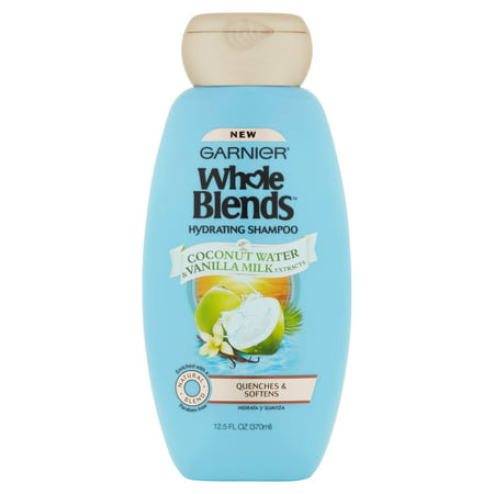 (2 Pack) Garnier Whole Blends Shampoo with Coconut Water & Vanilla Milk Extracts 12.5 FL (White Camellia Coconut Shampoo)