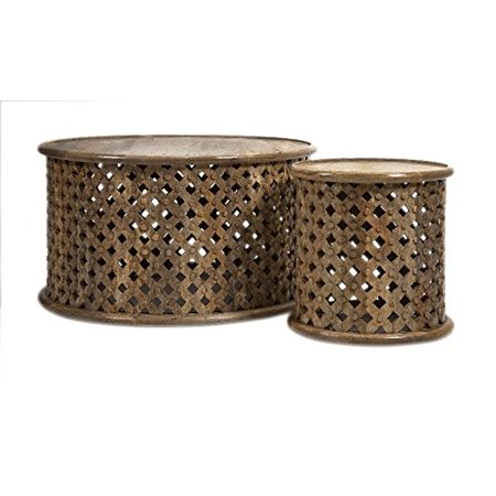 Abdalla Carved Wooden Tables