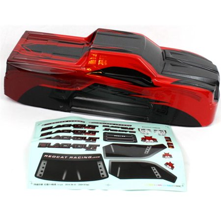 Redcat Racing Part BS214-003T-RED 1/10 Truck Red Body for Blackout XTE/XTE Pro](Severed Body Parts)