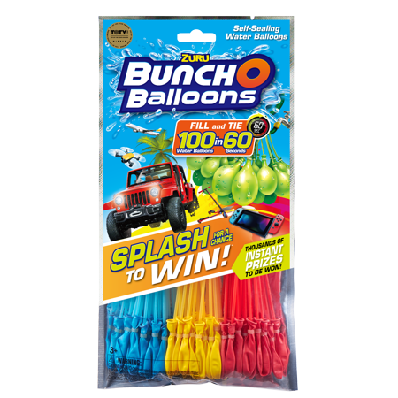 Water Balloon Kit (Bunch O Balloons Splash to Win Promotion with 100 Rapid-Filling Self-Sealing Water Balloons (3 Pack) by)