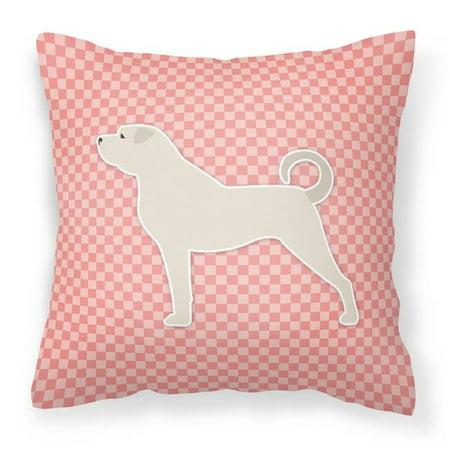 Carolines Treasures BB3677PW1818 Anatolian Shepherd Checkerboard Pink Fabric Decorative Pillow - image 1 of 1