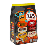 Hershey, Halloween Miniatures Assorted Chocolate Candy, Bulk Candy, 118.7-Ounce Bag, Approx. 365 Pieces