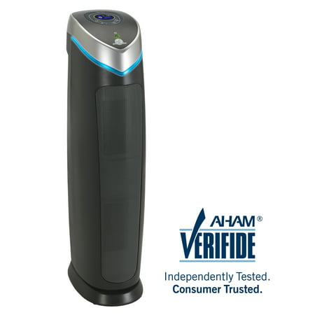 100 Cfm Free Air - GermGuardian AC5250PT 3-in-1 Air Purifier with Pet Pure True HEPA Filter, UVC Sanitizer, Captures Allergens, Smoke, Odors, Mold, Dust, Germs, Pets, Smokers, 28