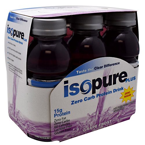 Nature's Best Zero Carb Isopure Plus RTD - Grape Frost - ...