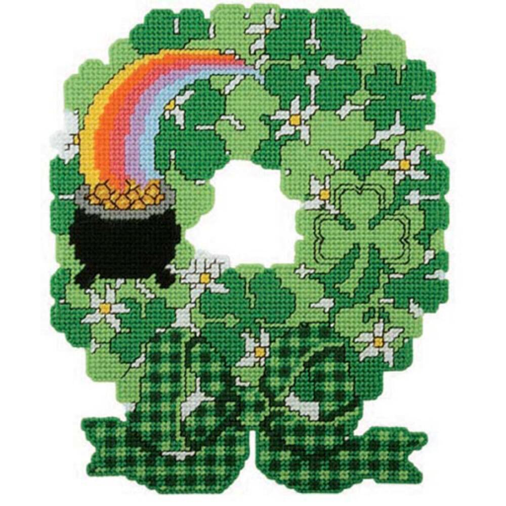 Craftways St. Patrick's Day Wreath Plastic Canvas Kit
