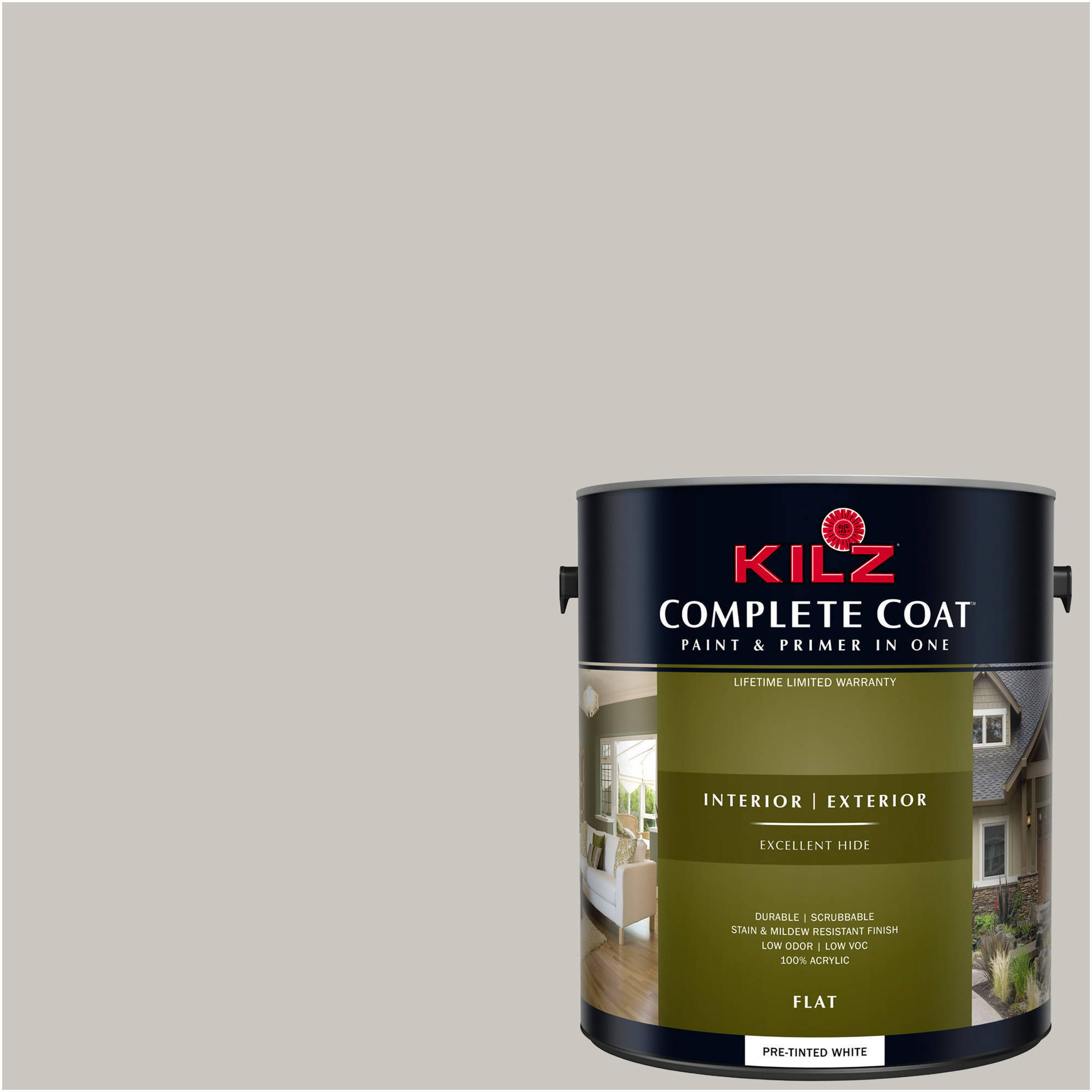 KILZ COMPLETE COAT Interior/Exterior Paint & Primer in One #RK100 Smoke Ring
