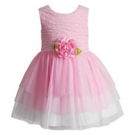 Youngland Baby Girl Ballerina Pink Dress W 3D - Ballerina Flower Girl Dress