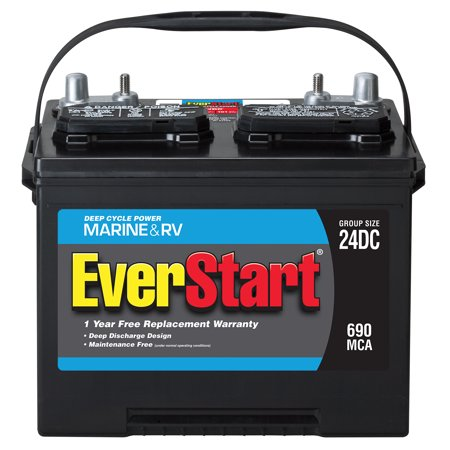 EverStart Lead Acid Marine/RV Battery, Group 24DC ...