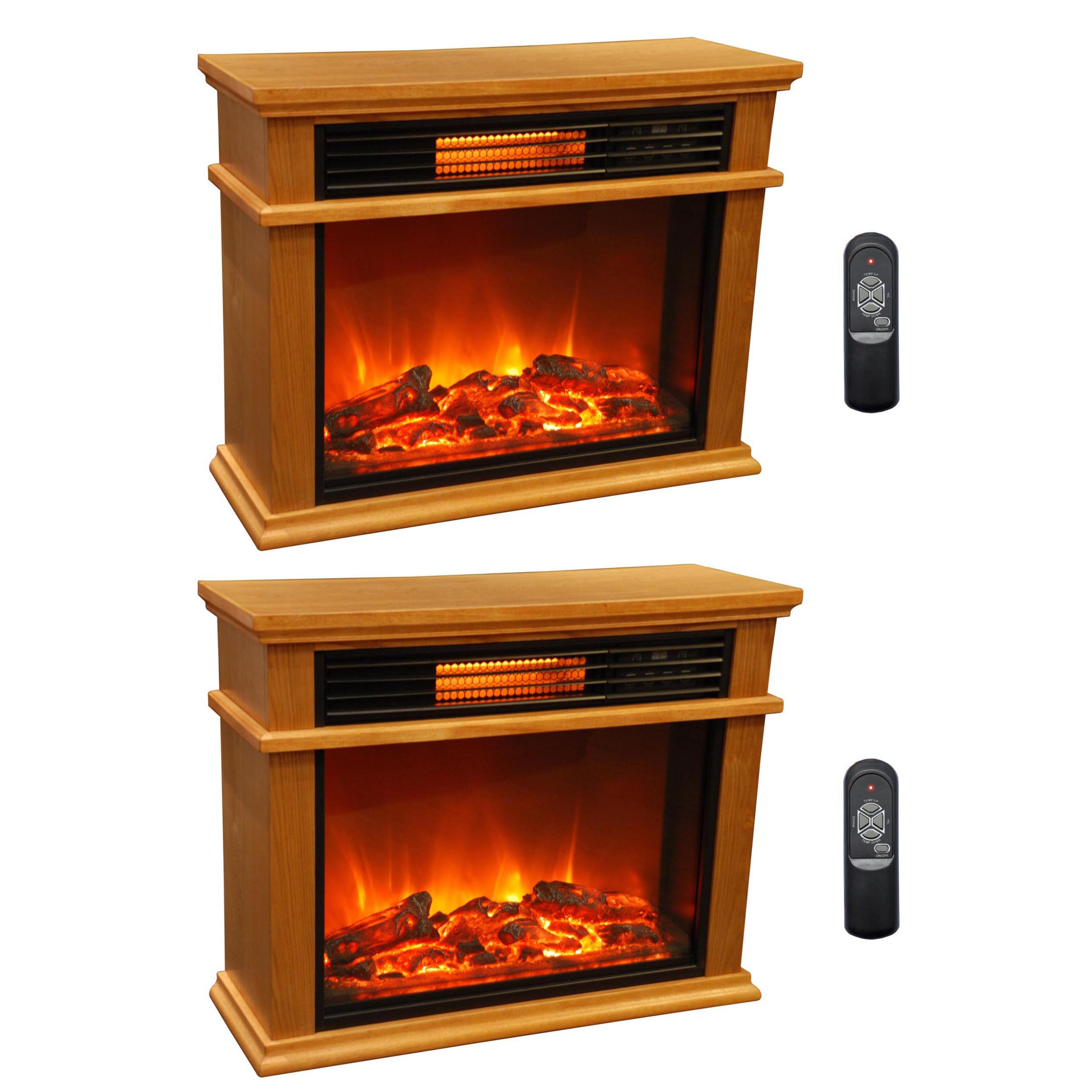 LifeSmart LifePro 3 Element Portable Electric Infrared Fireplace ...