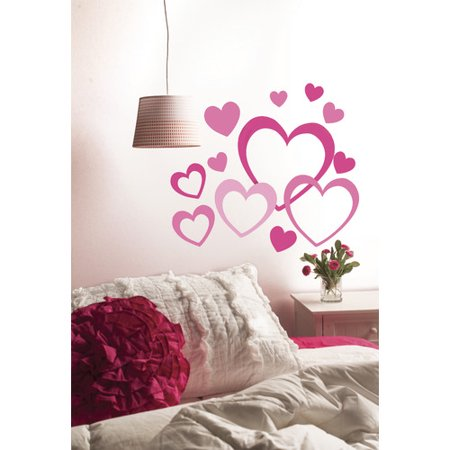 Wallies Peel and Stick Hearts in Hearts Wall Decal