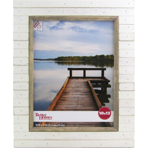 Better Homes and Gardens Oracoke 10x13 Soft White Picture Frame