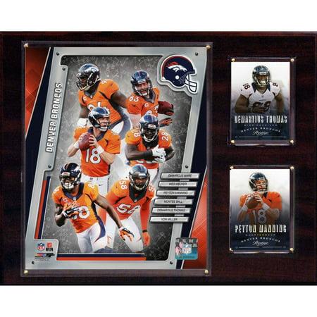 C&I Collectables NFL 12x15 Denver Broncos 2014 Team Plaque Denver Broncos Parking Sign