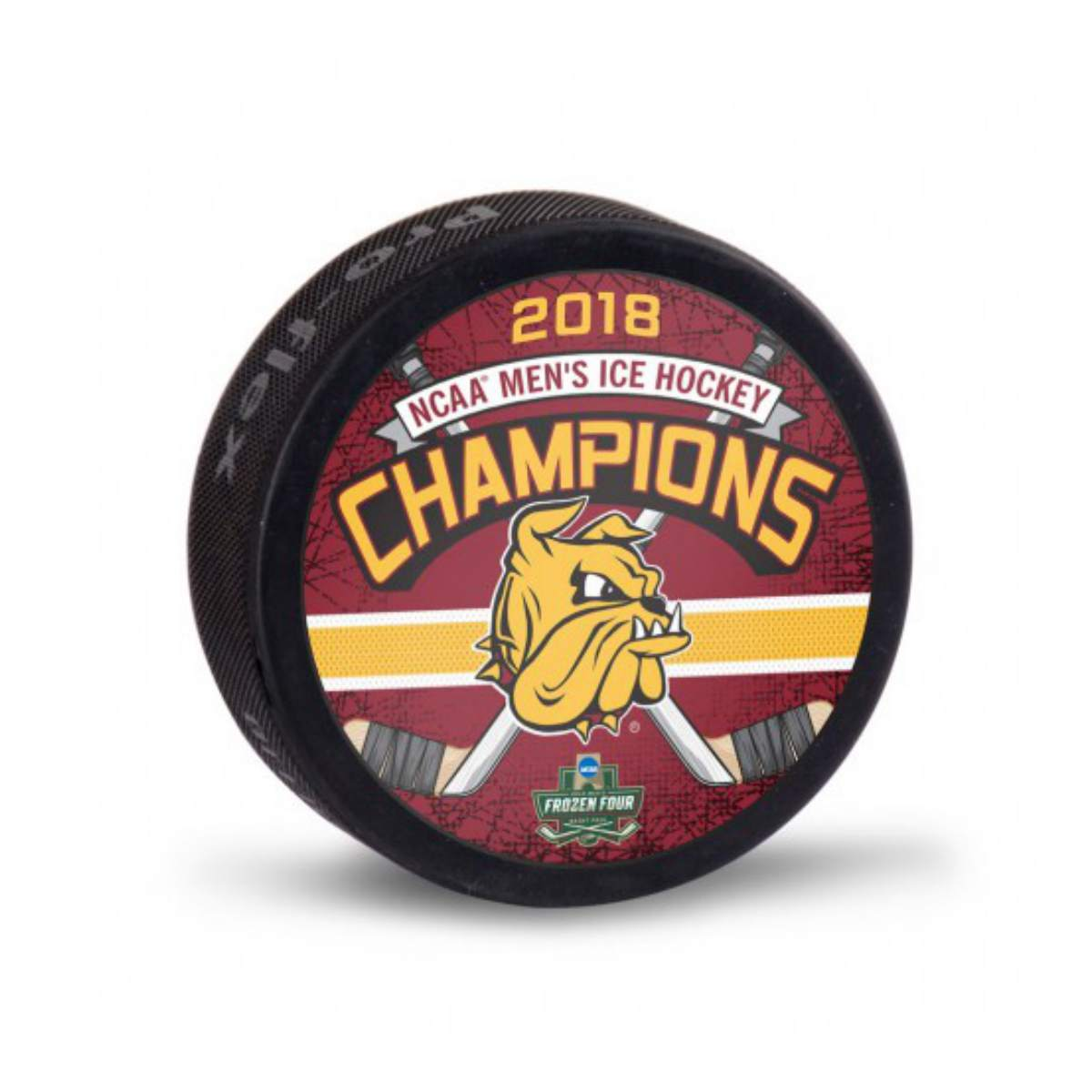 Minnesota Duluth Bulldogs 2018 NCAA Men's Frozen Four Champions Ice Hockey Puck