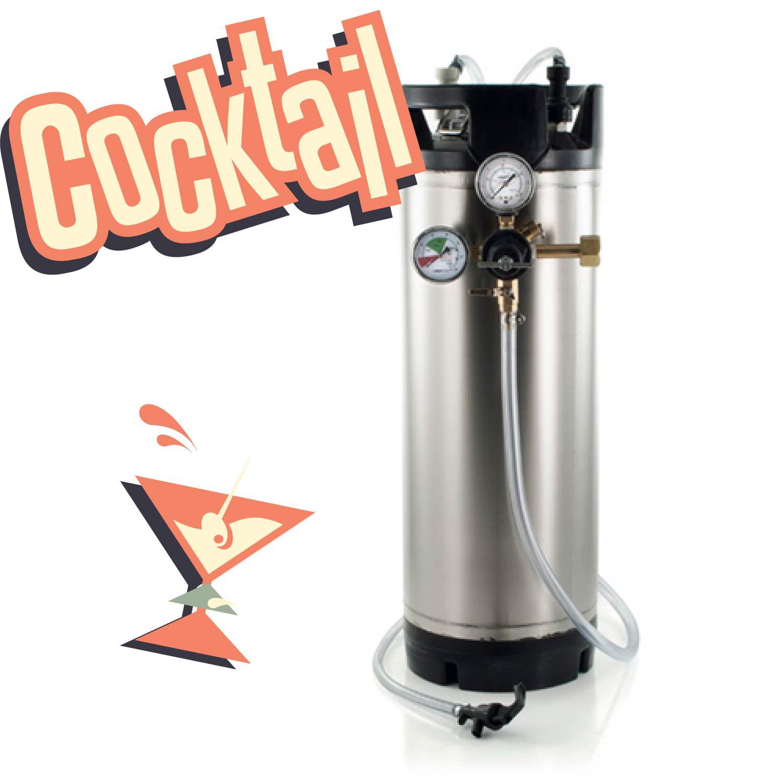 5 Gallon Ball Lock Cornelius Corny Keg w// 5 New O-RINGS 1 One