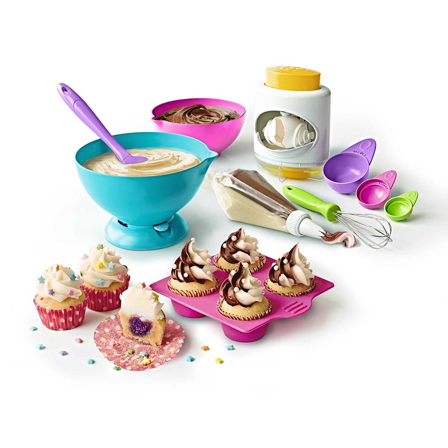Real Cooking Ultimate Baking Starter Set - 37 Pc. Kit Includes Sprinkles, Cake & Frosting Mix, Nylon Recipe DonutsCake Pc Bottle appetizers Cupcake 3Pack Development.., By Skyrocket Toys