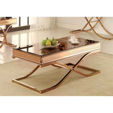 Bowery Hill Mirrored Coffee Table in Copper - image 1 de 2