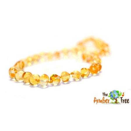 Cognac Baltic Amber Necklace - Polished Caramel Baltic Amber Necklace - 13
