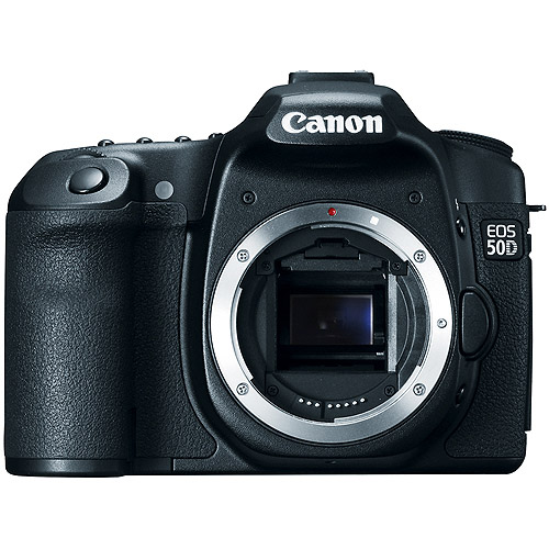"Canon EOS 50D Black 15.1MP Digital SLR Camera (Body Only) 3"" LCD, HDMI Output, LiveView with Face Detection"